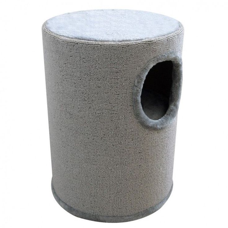 Cat Scratching Tower Cathouse Tree Home Scratcher Post Relaxing Playground Grey  #CatScratchingTower