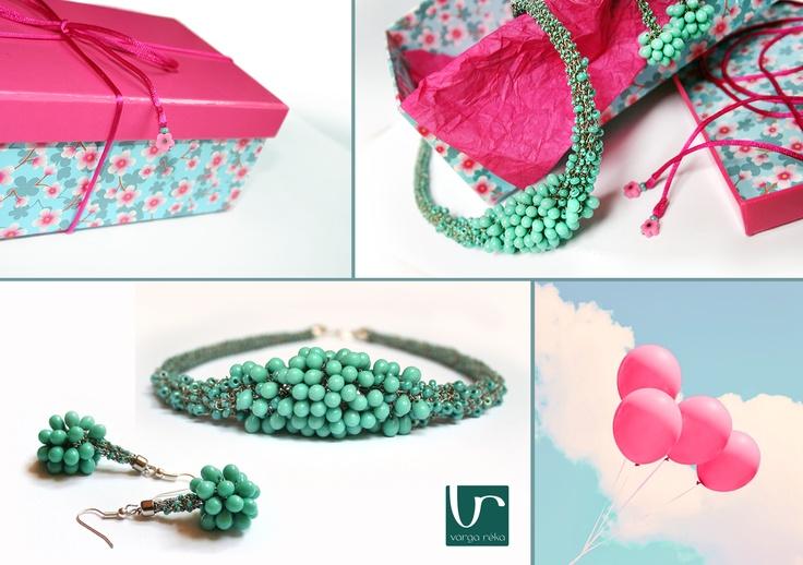 Beaded Crochet Jewellery www.vargareka.com