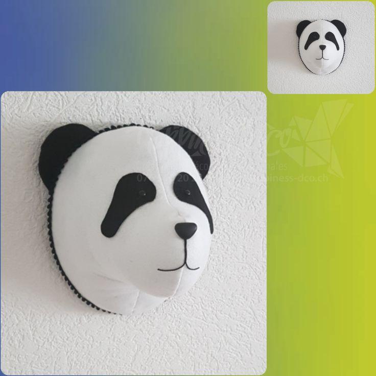 Trophée Mister panda. handmade en feutrine. #happinessdco #diy #tissu #feutrine #noir #blanc #panda #trophee #tropheeanimaux #animaux #decoration #deco #handmade #eco #enfant #chambreenfant #garcon #chambrebébé #baby #babyroom #design #unique #withlove #shoponline #suisse #swissmade #black #white #bebe #cadeau