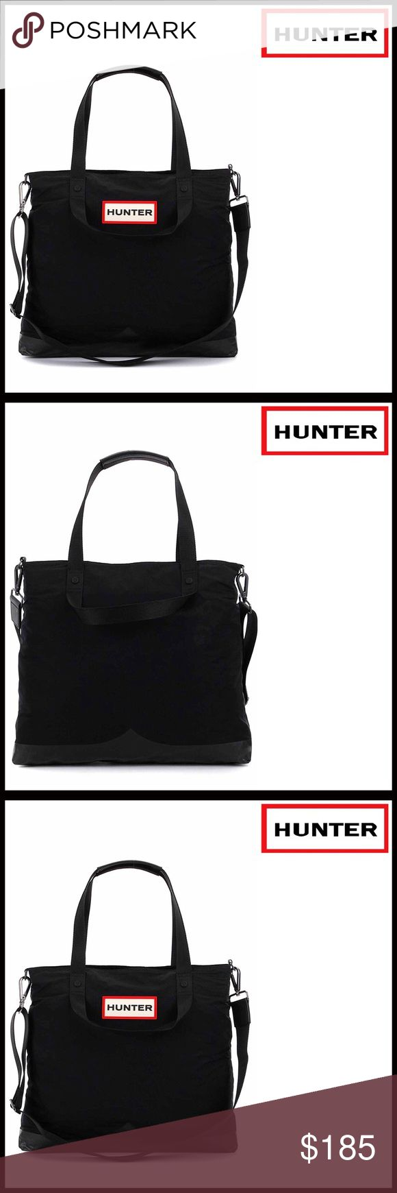 """HUNTER ORIGINAL LARGE TRAVEL COMMUTER BAG 💟NEW WITH TAGS💟 RETAIL PRICE:$200 AMAZING!  HUNTER ORIGINAL Travel Commuter Bag  * Detachable/adjustable shoulder strap   * Strap converts to crossbody/shoulder bag   * Dual top handles  * Zip top closure  * Nylon construction  * Approx 14.5"""" H X 16"""" W X 6"""" D;Approx 4"""" handle drop, 12-24"""" strap drop  * Dust bag included   Material: Nylon exterior, textile lining Color: Watermelon, black Item#HB918500 # Bucket saddle messenger tote 🚫No Trades🚫 ✅…"""