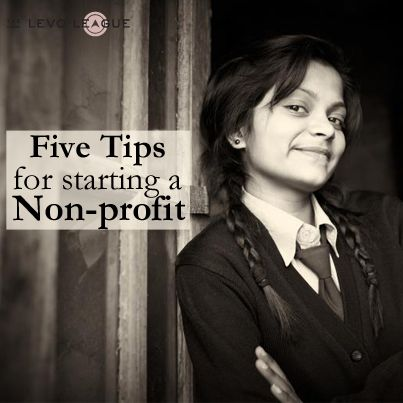"""Tips for Starting a Non Profit"" Hope they're good tips! I'll need them."
