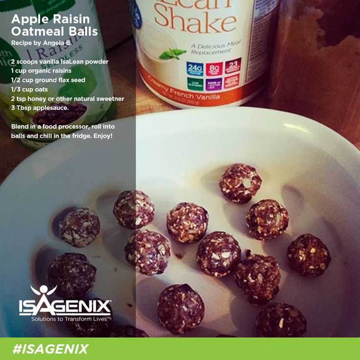 Make these delectable Apple Raisin Protein Balls from Angela B. for a healthy snack you can enjoy through out the week!