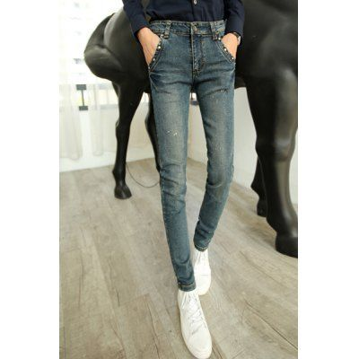 Material:+Polyester,+Jeans+ Pant+Length:+Long+Pants+ Fabric+Type:+Denim+ Wash:+Light+ Fit+Type:+Regular+ Waist+Type:+Mid+ Closure+Type:+Zipper+Fly+ Weight:+1.1KG+ Pant+Style:+Pencil+Pants+ Package+Contents:+1+x+Jeans  SizeWaistHipLength 287386101 297688102 307890103 31...