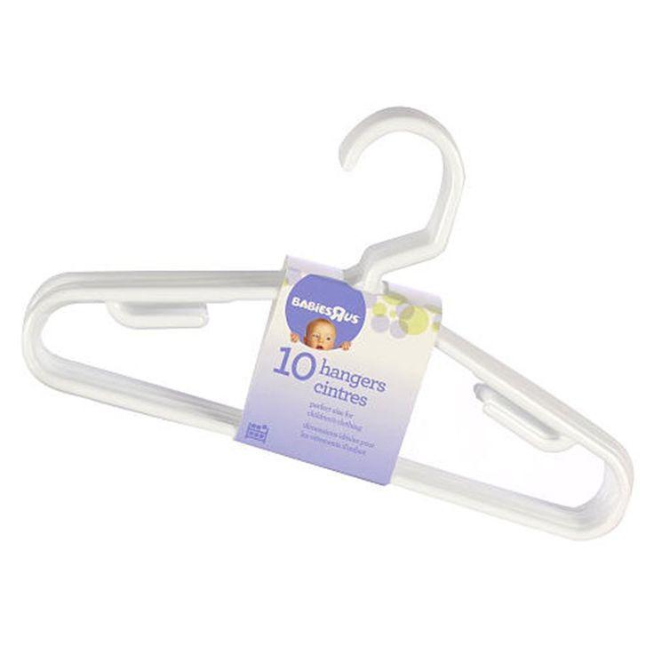 Babies R Us White 10 Pack Hangers | Babies R Us Australia #babiesrusregistry