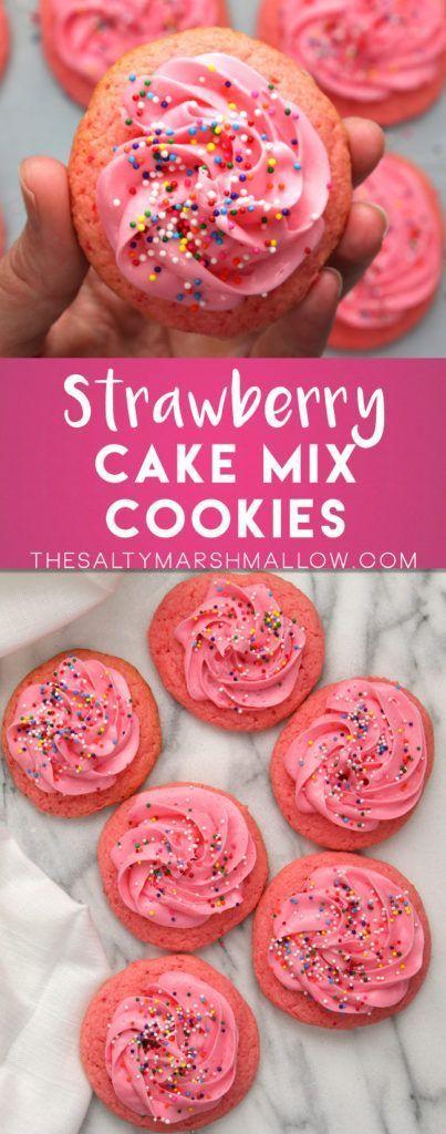 Strawberry Cake Mix Cookies & 609 best Cake Mix Cookie u0026 Bar Recipes images on Pinterest | Cake ... Aboutintivar.Com
