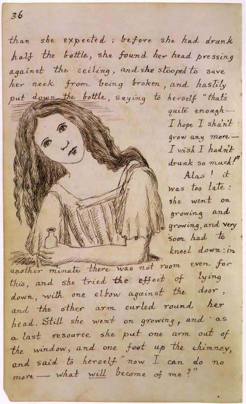 "Original manuscript for Alice In Wonderland by Lewis Carroll (at the time called ""Alice's Adventures Underground"")"