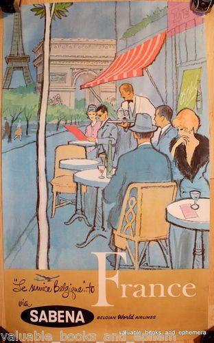 Paris, France 1960s _________________________ #Vintage #Travel #Poster