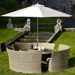 Bramblecrest Sahara 3 Bench Rattan Garden Furniture Set