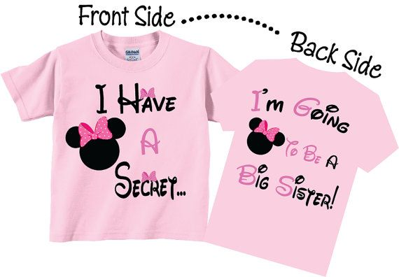 I'm Going To be A Big Sister Shirts Cute Pink Bows by TheCuteTee