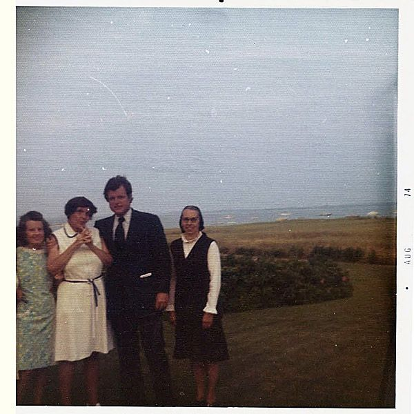From left: Rose Kennedy, her daughter Rosemary, her son Ted, and Rosemary's caretaker, Sister Paulus, at Hyannis Port, Massachusetts Inside Ted Kennedy's Special Bond with His Sister Rosemary: 'He Related to Her on an Emotional Level'| politics, The Kennedys, Ted Kennedy