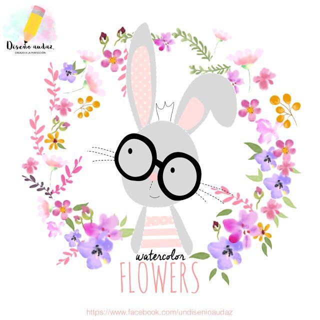 Diseño audaz: Clipart free Watercolors flowers png