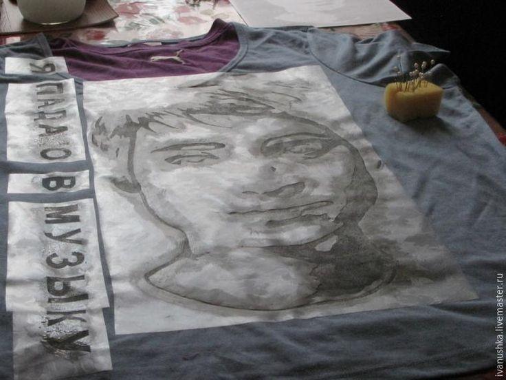 Как по фотографии сделать рисунок на футболке - Ярмарка Мастеров - ручная работа, handmade