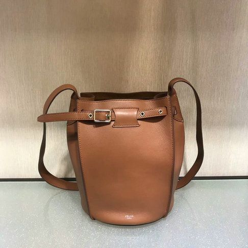 Celine Big Bag Bucket with long strap in tan leather  c9233c476c876