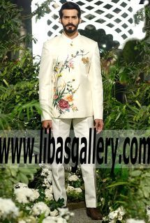 """Look your very best for the big day with a handsome wedding Sherwani and Nehru jacket from Elan Bridal Couture Palai Indochine """"game changer"""" collection. Whether you're the groom, best man or father of the Groom & bride,Designer Nehru jacket Sherwani Collection traditional sherwani in various styles.❤ See more: www.libasgallery.com #UK #USA #Canada #Australia #SaudiArabia #Bahrain #Kuwait #Norway #Sweden #NewZealand #Austria #Switzerland #Germany #Denmark #France #Ireland #Mauritius…"""