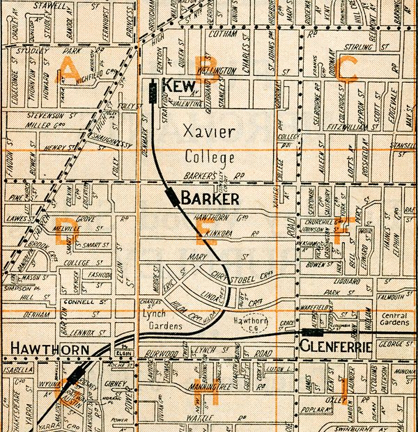 Map from Morgans street directory