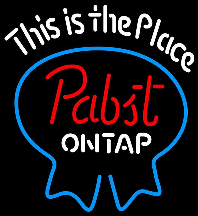 Pabst Light This Is The Place Neon Beer Sign, Pabst  Neon Beer Signs & Lights | Neon Beer Signs & Lights. Makes a great gift. High impact, eye catching, real glass tube neon sign. In stock. Ships in 5 days or less. Brand New Indoor Neon Sign. Neon Tube thickness is 9MM. All Neon Signs have 1 year warranty and 0% breakage guarantee.
