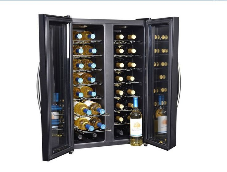 New 32 Bottle Wine Cooler Dual Zone Thermo Electric Best