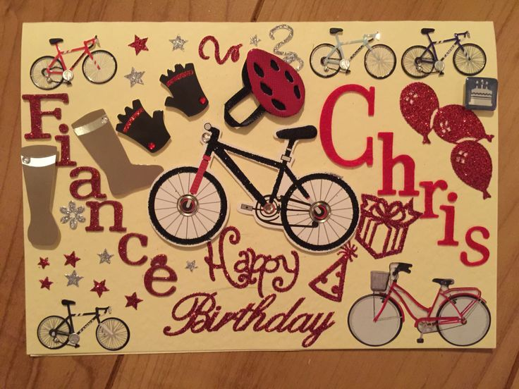 Personalised Fiancé birthday card by MuddyFieldDesigns on Etsy