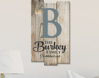Personalized Rustic Sign Family Name Sign State by mrcwoodproducts