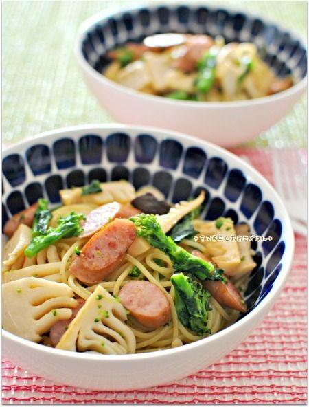春の味覚を味わう簡単和風パスタ / 休日のブランチ | PECOオフィシャルブログ「すてきにしあわせごはん~毎日の食卓から小さな幸せを♪~」Powered by Ameba
