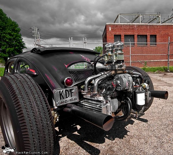 VW Chopped Rat-Rod. (via VW Chopped Rat-Rod | BlackRatCustom)