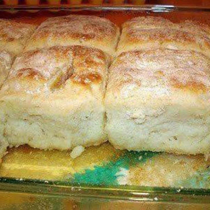 7 up biscuits, uses flour rather than bisquik. Must kneed a bit otherwise will resemble drop biscuits