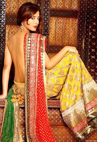 Amrita Rao in a backless saree.