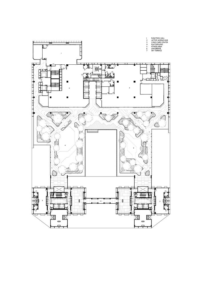 Gallery Of Kampung Admiralty Woha 20 World Architecture Festival Architecture Floor Plans