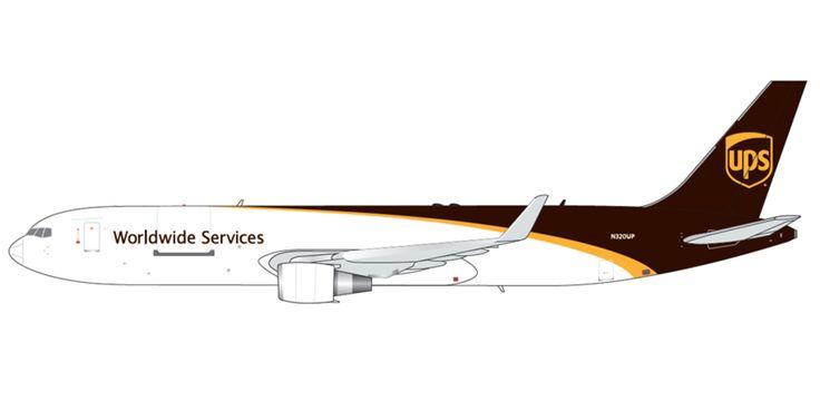 1/400 GeminiJets United Parcel Service (UPS) Boeing 767-300F Diecast Model