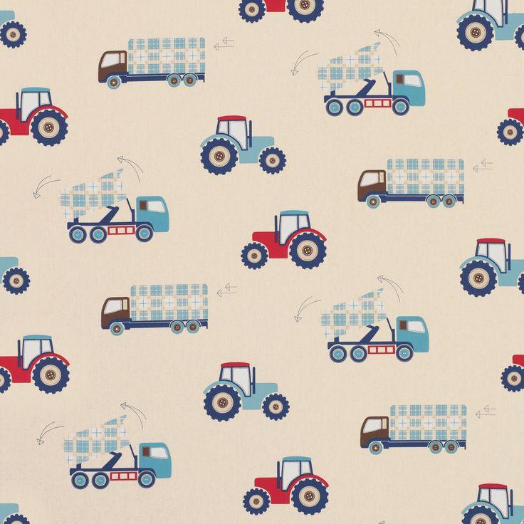 Laura Ashley | Tractors And Trucks Childrens Fabric
