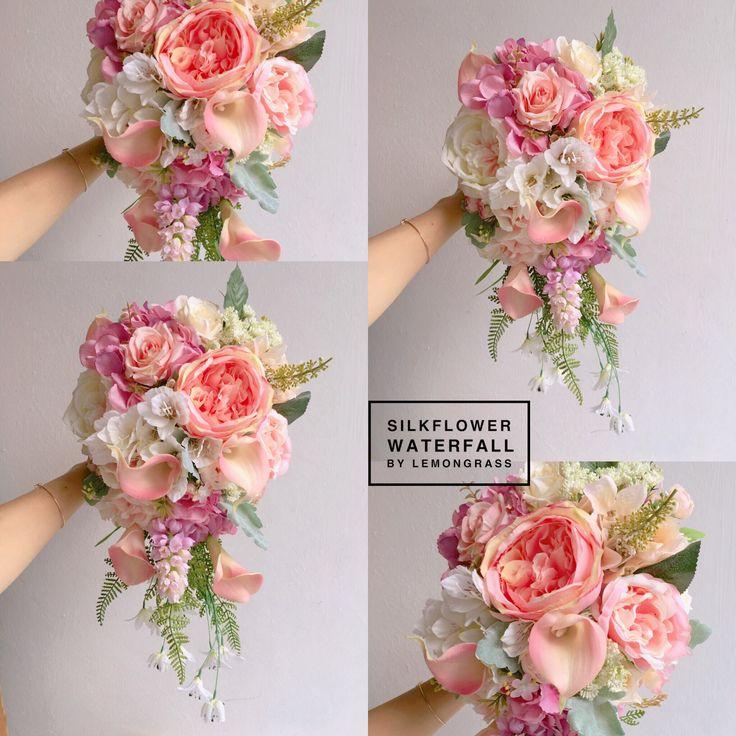 *upsize waterfall;surcharge will be applied  www.facebook.com/LemongrassWedding  #flower #bride #bouquet #lemongrasswedding #bridebouquet #freshflowers #wedding #florist #corsage #weddings #bridesmaids #silkflowers