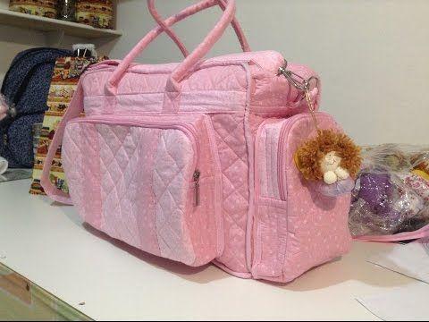 como fazer uma bolsa maternidade,para carregar coisas de bebe - YouTube                                                                                                                                                                                 Mais
