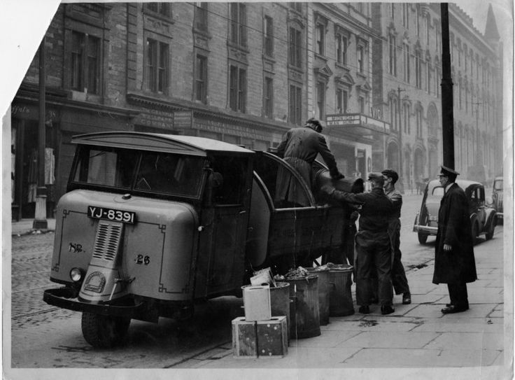 A 1955 bin lorry on the city's Victoria Road.