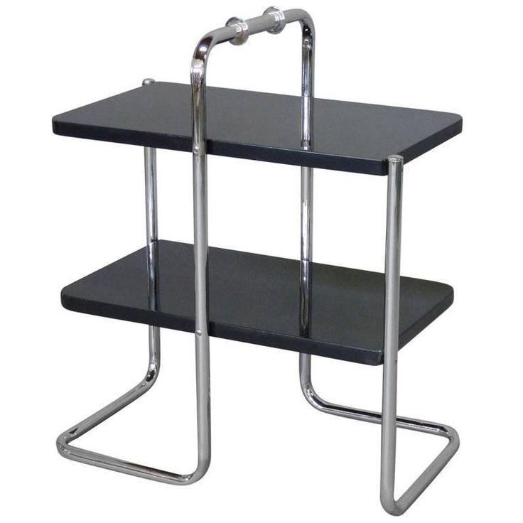 Machine Age Tubular Chrome Art Deco Side Table by Wolfgang Hoffmann | From a unique collection of antique and modern side tables at https://www.1stdibs.com/furniture/tables/side-tables/