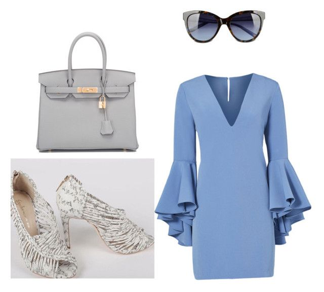 """""""Get this look at Parler La Mode"""" by classy-avenue on Polyvore featuring Milly, Hermès and Love Moschino"""