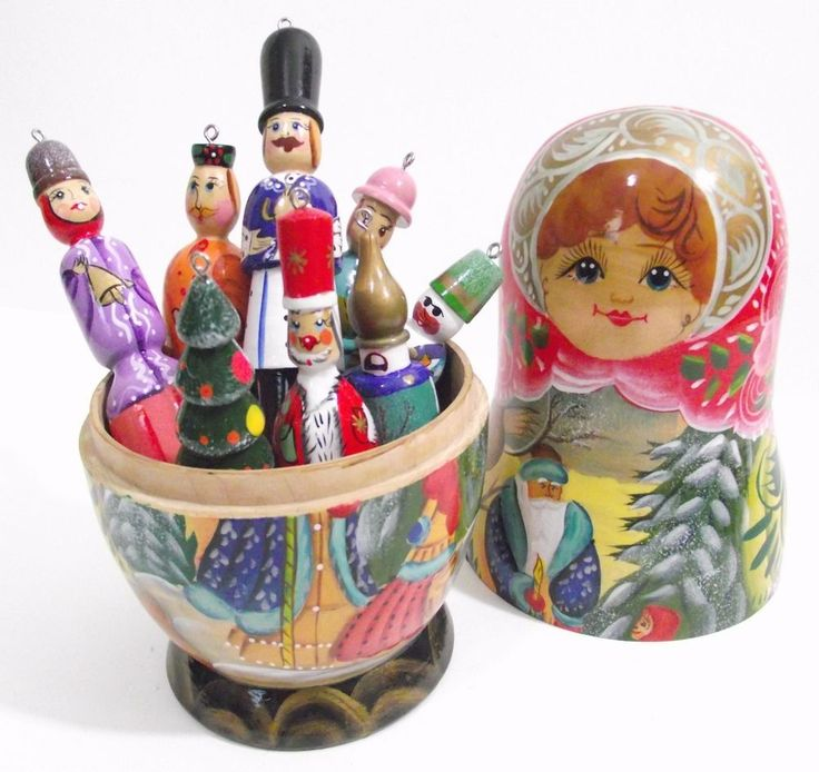 Russian Doll Christmas Tree Decorations Rainforest Islands Ferry
