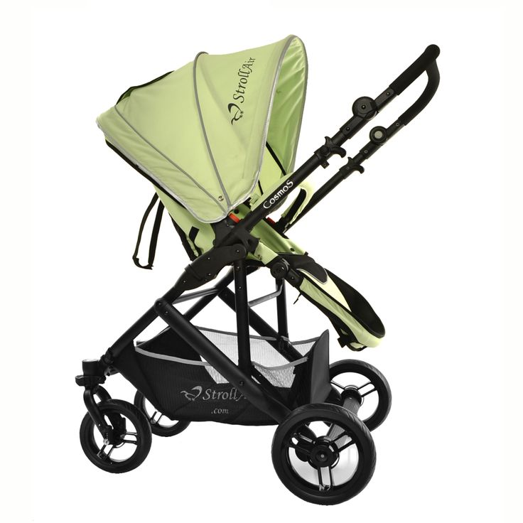 StrollAir CosmoS Green. Single stroller with reversible seat www.stroll-air.com