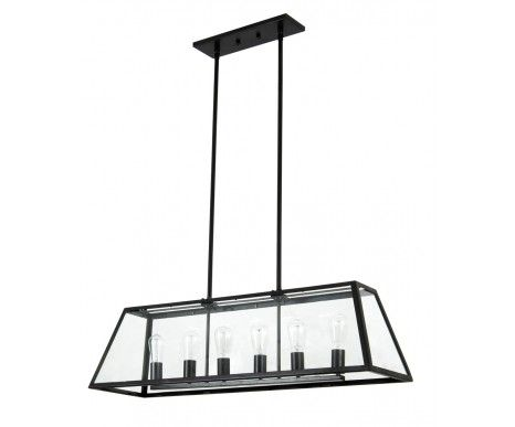 Beacon Lighting : Southampton 6 Light Pendant in Antique Black
