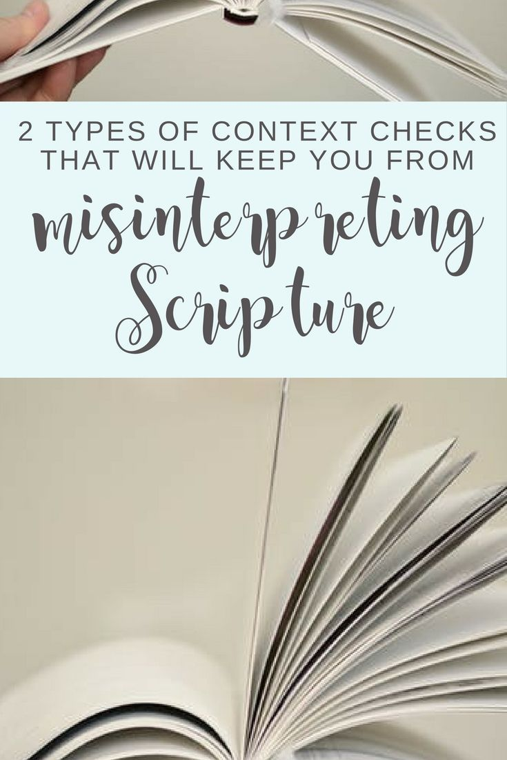 Check out this article's tips for reading Bible verses in context. It gives examples and resources for understanding textual context and historical context. | Scripture Confident Living