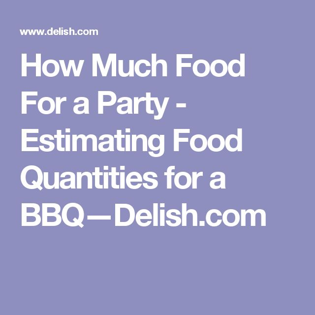 How Much Food For a Party - Estimating Food Quantities for a BBQ—Delish.com