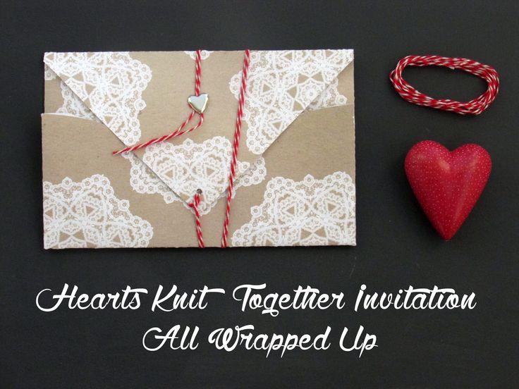 Hearts Knit Together Invite, all wrapped up