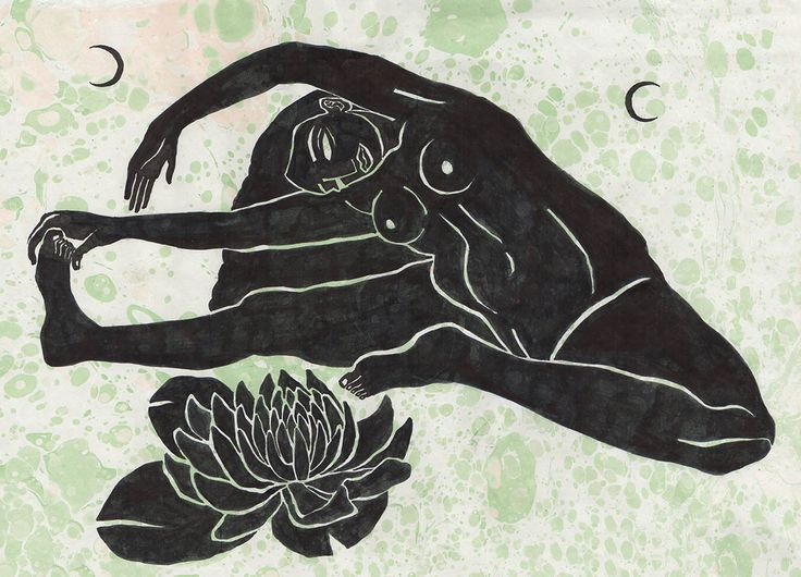 Yoga Illustration by Hanako Mimiko