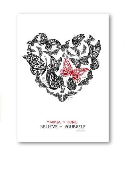 """Believe in Yourself""  New Zealand Art Print, open edition."
