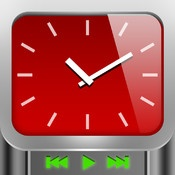 ClockTunes  By Leechbite Apps    Turn your iPad into a beautiful custom clock, a photo frame and a music player! Download new cool clocks through the built-in clock browser.
