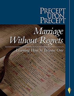 Marriage without regrets precept: By far the best Bible Study I have ever done! Learn all that God says about marriage!