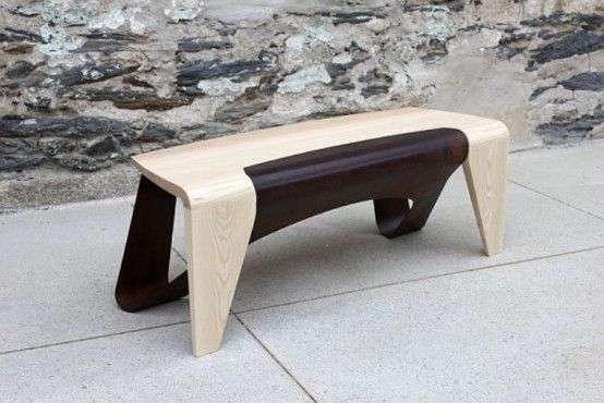 cool wooden bench