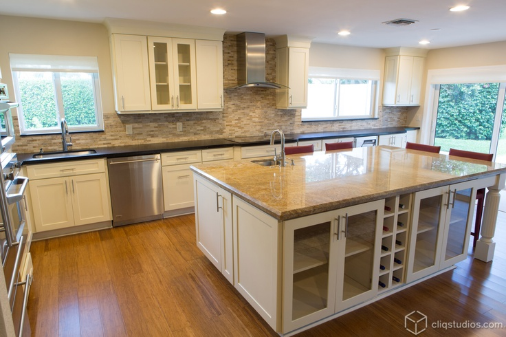 3rd Place Winner Featuring Dayton Painted Linen Mission Kitchen Cabinets White