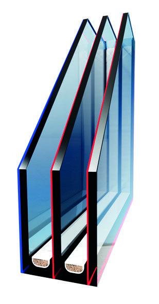 Przekrój szyby w oknie I6.