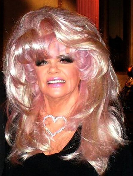 "Jan Crouch is the First Lady of the Trinity Broadcasting Network and takes the principle ""the bigger the hair, the closer to Jesus"" to new heights, loves her some cotton candy highlights. Awesome!"