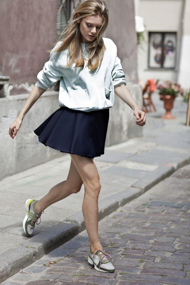 Hot city look: La Mania's short EVY skirt. #lamania #streetstyle #photo Asia Typek